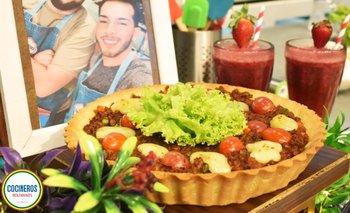 Tarta de carne y Ceviche de pulpo