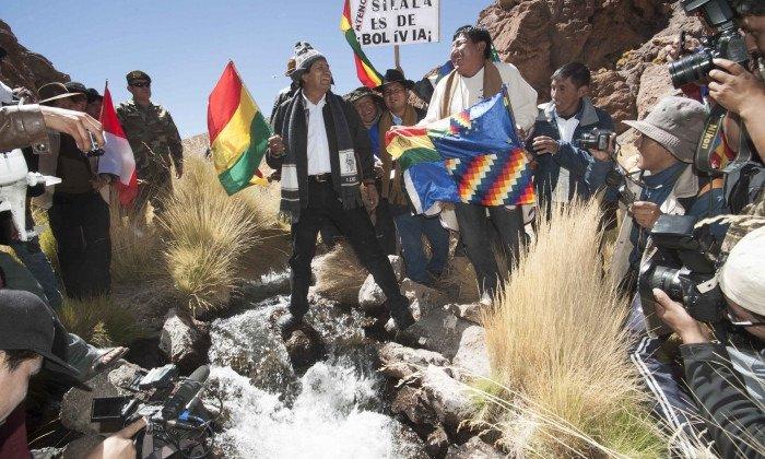 Evo insiste que el Silala fluye artificialmente hacia territorio chileno