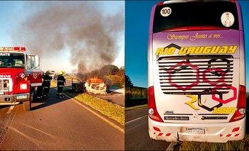 Dos muertos en un choque fatal seguido de incendio