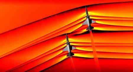La NASA logra captar la intersección de un choque de ondas de dos aviones supersónicos