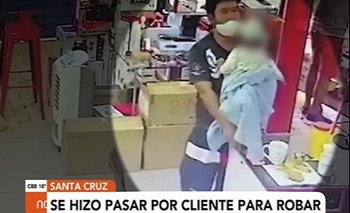 Utilizaba a su bebé para robar celulares