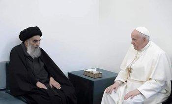 Papa Francisco se reúne con principal clérigo chií de Irak, visita cuna del profeta Abraham