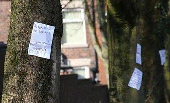 La engañaron y llenó de carteles misteriosos la ciudad