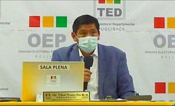 Sucre: TED decide repetir votación en tres mesas y prolonga incertidumbre