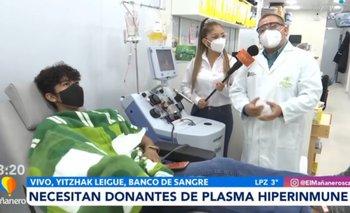 Banco de Sangre pide donar plasma hiperinmune