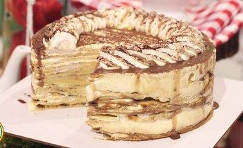 Torta crepes estilo tiramisú