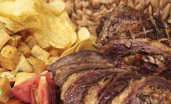 Carne al horno rellena