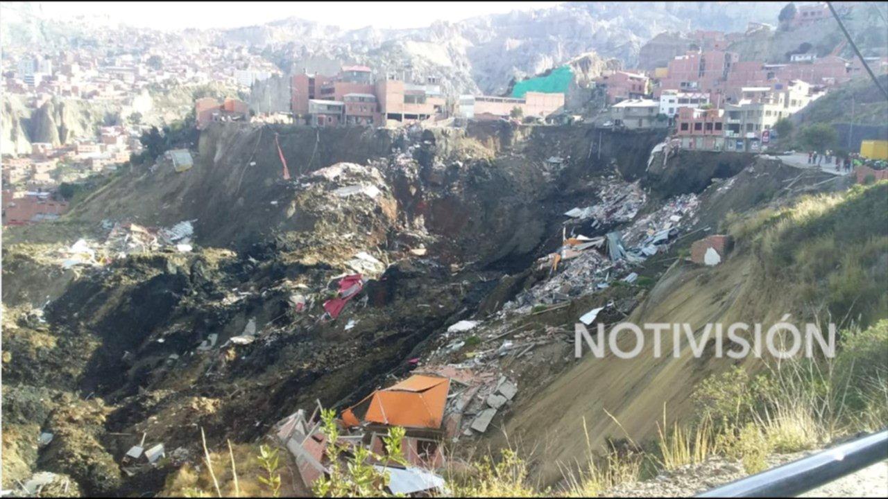 La Paz en situación de desastre tras derrumbe en Bolivia