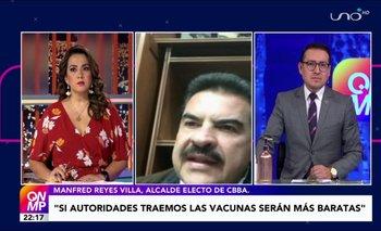 Manfred Reyes Villa confirma que fue inmunizado con la vacuna Johnson & Johnson
