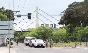 Sábado con bastante control policial en algunas zonas de la capital cruceña
