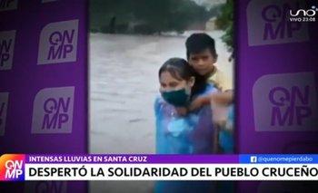 Santa Cruz vivió una jornada extraordinaria con más de 10 horas de lluvia continua