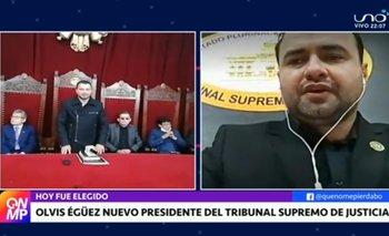 Olvis Egüez Oliva es el nuevo presidente del Tribunal Supremo de Justicia