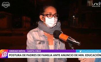 Padres de familia de colegios particulares de Santa Cruz rechazan la propuesta del gobierno