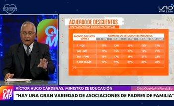 Ministro de Educación brinda información sobre el acuerdo de descuentos en unidades educativas privadas