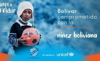 El Club Bolívar se pone la camiseta por la niñez y se une a la campaña Tiempo de Actuar