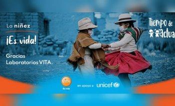 UNICEF recibe el apoyo de Laboratorios Vita en el marco de la campaña Tiempo de Actuar