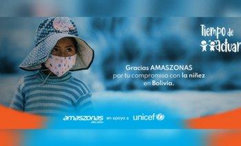 Amaszonas brinda vuelos de esperanza por la niñez