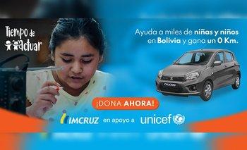 Tu solidaridad con los niños puede hacerte ganar un automóvil 0 Kms. de IMCRUZ