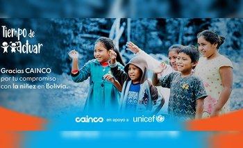 CAINCO se compromete con la niñez de Bolivia