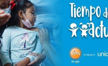 Laboratorios ViTA entregó un generoso aporte a la campaña Tiempo de Actuar de UNICEF