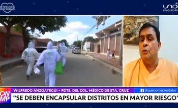 Médicos de Santa Cruz rechazan flexibilización de la cuarentena