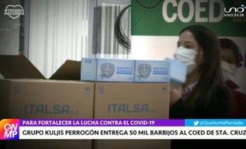 Grupo Kuljis Perrogón entrega 50 mil barbijos al COED de Santa Cruz