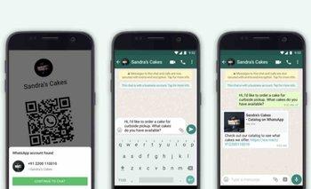 WhatsApp ya permite abrir conversaciones con las empresas mediante códigos QR