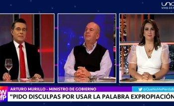 """Ministro Murillo: """"Retiro la palabra expropiación por intervención"""""""