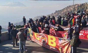 La COB se moviliza en La Paz