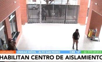 Habilitan centro para pacientes leves con Coronavirus en Alto San Pedro