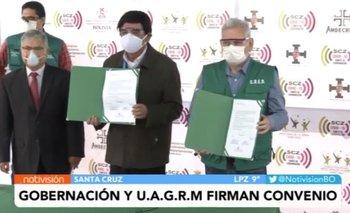 Gobernación y UAGRM firman convenio de ingreso directo para donantes de plasma hiperinmune