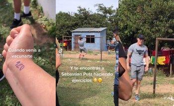 Tiktok: Sebastián Putz no quiso perder su día de brazos y entrenó en un arco