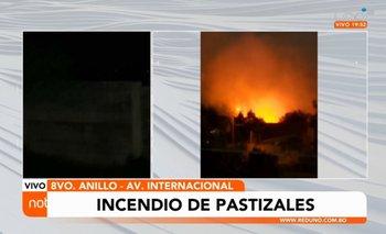 Incendio de magnitud alarma a vecinos de la Santos Dumont