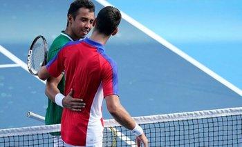 Djokovic obsequió a Dellien su camiseta como premio a su profesionalismo
