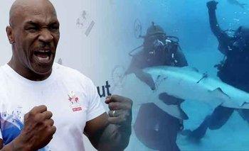 VIDEO: Mike Tyson supera sus temores venciendo a un tiburón en el mar