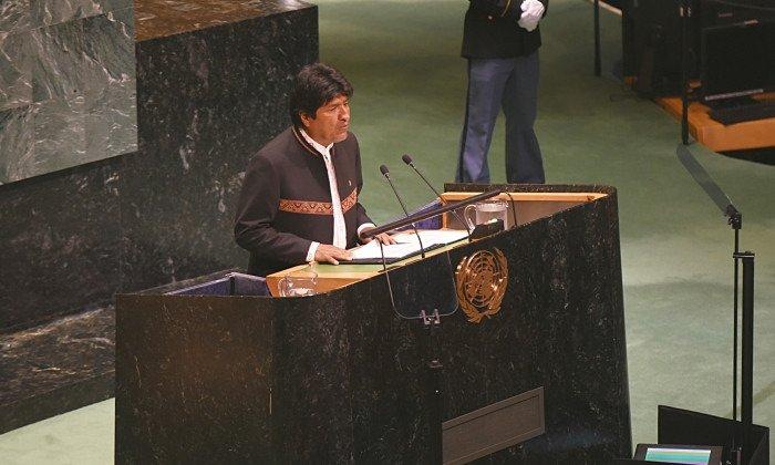 Frente a la ONU, bolivianos exigen a Evo declarar desastre nacional