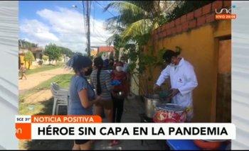 Héroes sin capa: preparaban 400 platos de comida para los más necesitados
