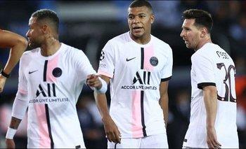 El PSG de Messi-Neymar-Mbappé no pudo ante el Brujas