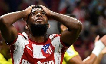 El Atlético de Madrid pierde a Lemar por una lesión muscular.