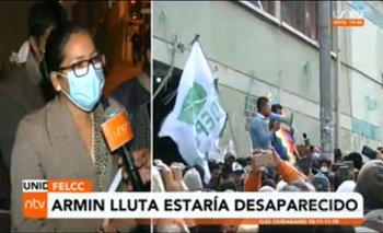Abogada del dirigente cocalero Armin Lluta denuncia la desaparición de su defendido
