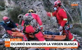 Hombre muere tras caer al precipicio del mirador Virgen Blanca en Satélite investigan a su pareja