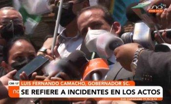 Camacho se refirió a los incidentes en los actos del 24 de septiembre