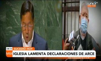 Iglesia católica afirma que las declaraciones de Luis Arce en la ONU no corresponden a la realidad