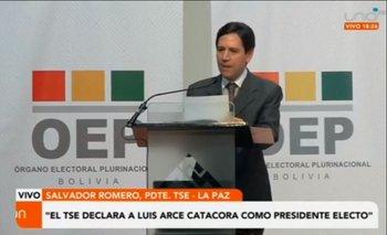 TSE declara oficialmente a Luis Arce Catacora como presidente electo de Bolivia