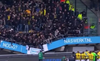 Saltos de hinchas desploman la tribuna del estadio del NEC en Holanda