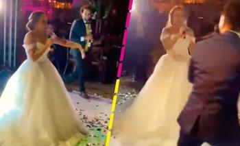 Novia arma batalla de rap en su boda y se hace viral