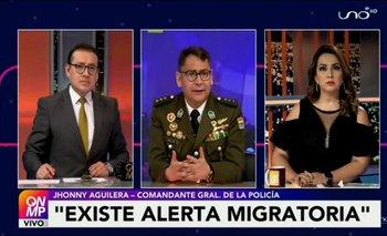 Aguilera señala que la Policía cruzará información para establecer paradero de Murillo y López