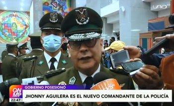 Jhonny Aguilera es el nuevo comandante de la Policía Boliviana